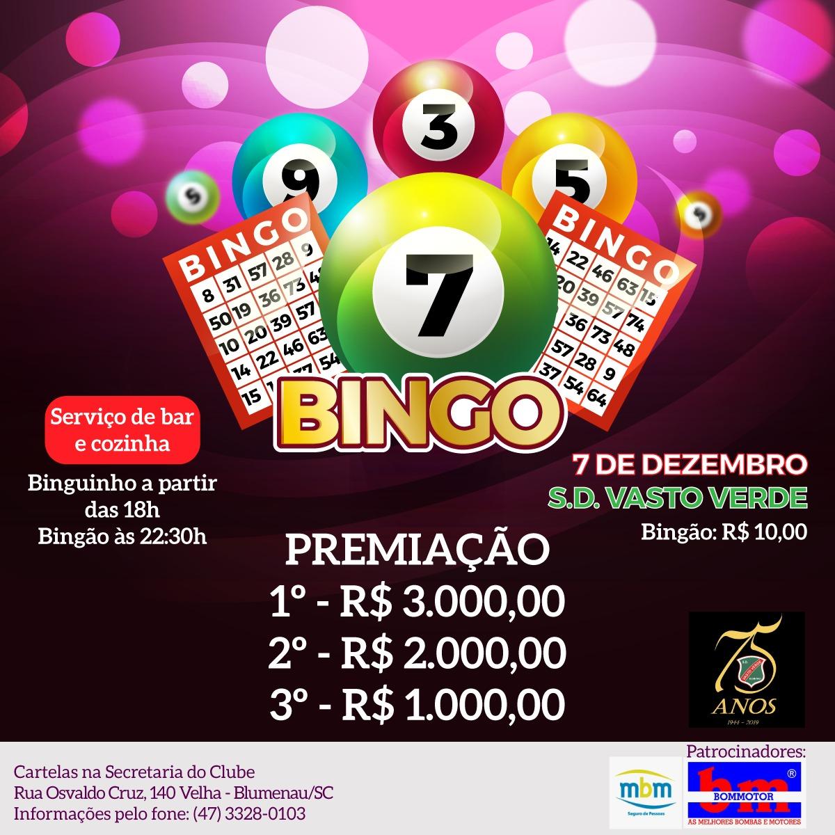Bingo 7 De Dezembro