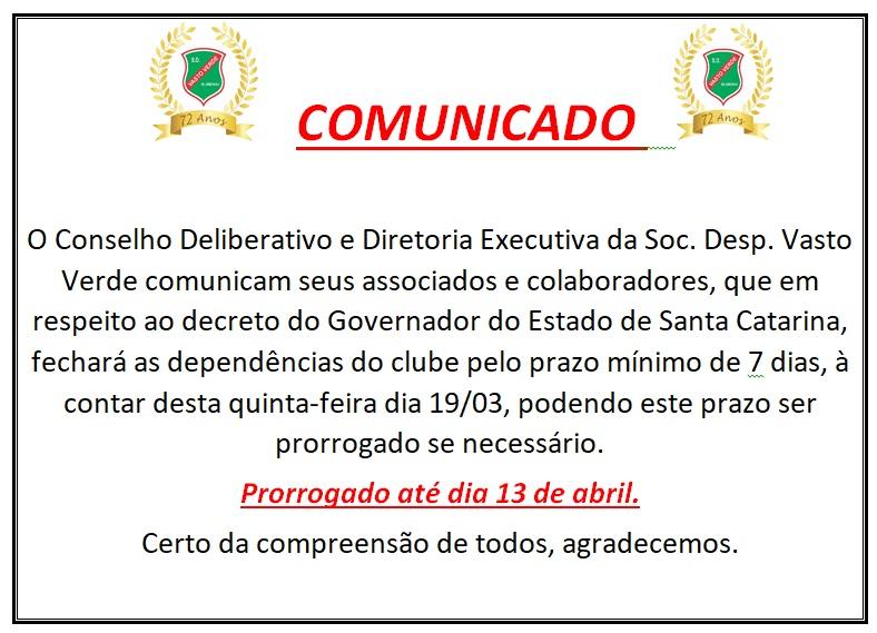 COMUNICADO 08/04/2020