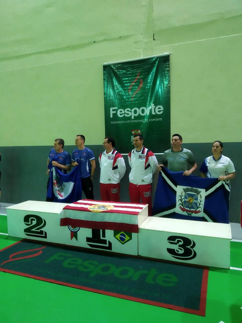 Karate Vasto Verde-  masculino campeão geral OLESC 2018 Indaial