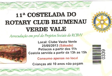 Costelada do Rotary Club Blumenau Verde Vale